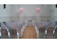 Chair Covers, sashes, backdrop, centrepieces and balloons for your wedding or party