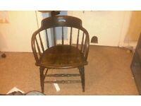 Victorians desk chair, captains chair, antique