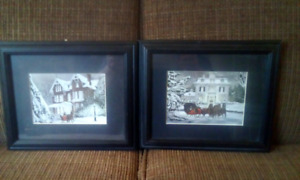 2 10 x 12 framed pictures