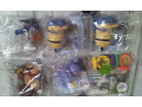 2 minions & 4 other toys from Mcdonal