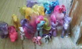 Ponies collection (14, 3 of them my little ponies)