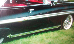 1959 IMPALA  ROCKER MOLDING TRIM  AND SIDE EXHAUST PORTS