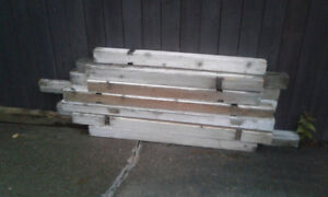 4 x 4 posts Assorted lengths, some fence boards 5 ft