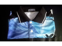BUTTERFLY TABLE TENNIS SHIRT - UK SIZE M - USED IN EXCELLENT CONDITION