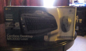 Logitech wireless Laser keyboard and mouse ...NEW