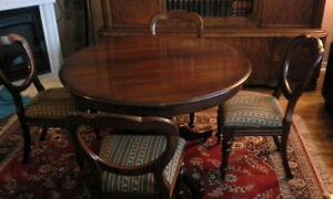 Antique table and 4 chairs - great condition