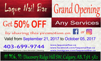 Laque Nail Bar - Grand Opening - 50% OFF