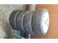 4 set of 18 inch bmw alloy wheels for sale