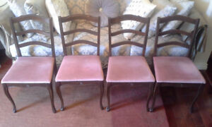 Upholstered Mid Century Dining Chairs Set
