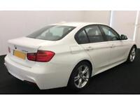 White BMW 320d 2.0TD M Sport Alloys 184bhp 4 door FROM £59 PER WEEK !