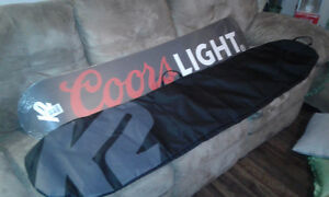 k2 coors light snowboard and bag $350 obo