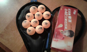 10 New DHS 2018 3 Star D40+orange ITTF app. table tennis balls