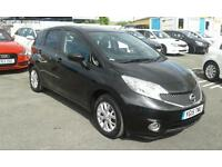 2015/15 NISSAN NOTE 1.2 ACENTA 5 DOOR BLACK LOW MILEAGE 13k