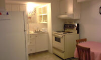 2 bedroom fully furnished basement apartment