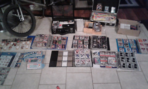 Hockey cards and other cards for sale.