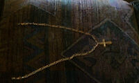 19.5 grams 10k gold 21 inch cross chain $450 with receipt