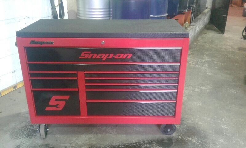 "snap on tool box 55"" carbon fibre drawer edition with armour edge ..."