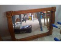 Chunky Antique Pine Mirror