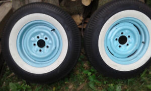 1957 chevy new steel rims and tires(all4)BRAND NEW