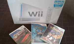 Wii with games/ console wii avec jeux