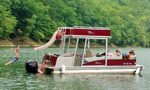 Double Decker Pontoon Boat with Mercury 250 hp