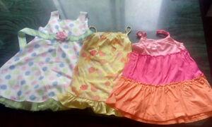 3 robes d'été fille 3 ans