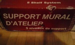 Support Mural NEUF pour Bois (Cabanon, atelier. Métaux))