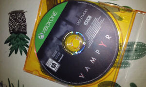 Vampyr xbox one disque seulement.