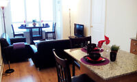 $120/night. 2 bed 2 bath beautifully furnished condo. Square One