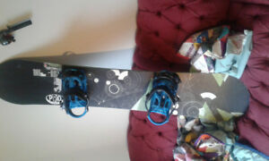 Like new Sims snowboard and k2 bindings.