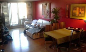 Semi-Furnished 3 1/2 to rent (with garage & appliances) for July