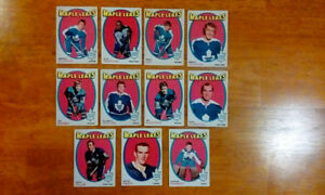 1968 to early 70's Hockey cards.