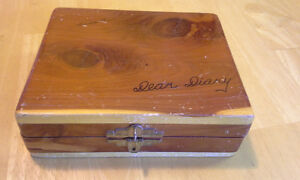 vintage Dear Diary wooden box
