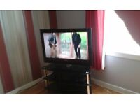 32inch television and stand