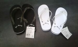 Just Married Sandals For Him and Her - NEW