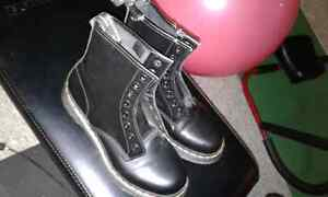 Never worn docs with one chew mark
