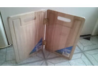 2 CHOPPING BOARDS TOGETHER DIY MINI TABLE BOARD OR SHELVES