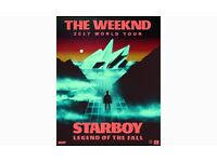 2X STANDING TICKETS FOR THE WEEKND AT THE SSE HYDRO IN GLASGOW ON THE 10TH MARCH 2017