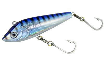 "c /& h lures wahoo whacker approx 11/"" 6oz missile head blue white kingfish tuna"