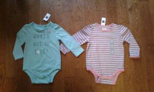 Baby Gap Girls Long Sleeve Onesie NWT