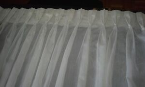 White Sheer Curtains $60 OBO