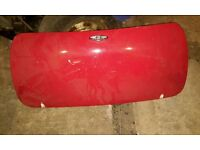Classic mini GRP smooth double skin boot lid