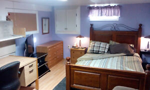Large Furnished Basement Bedroom- Now Available