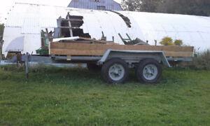 tandem trailer heavy duty  13 x7