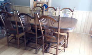 gorgeous SOLID OAK Dining room set Peterborough Peterborough Area image 1