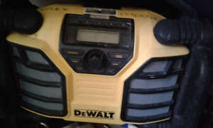 Mini fridge & dewalt stereo