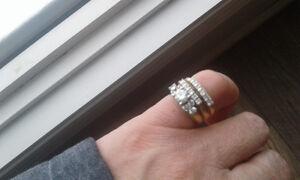 14k wedding ring set