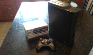 XBox 360 Elite, 1 controller, and some games