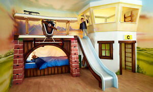 The  HIGH  FLYER  Bunk Bed / Loft & Play House