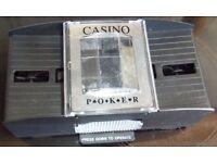 """Casino"" Poker / Bridge / Whist card shuffler."